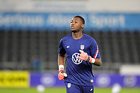 SWANSEA, WALES - NOVEMBER 12: Chituru Odunze #24 of the United States national team warming up before a game between Wales and USMNT at Liberty Stadium on November 12, 2020 in Swansea, Wales.