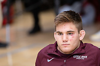 STANFORD, CA - March 7, 2020: Conner Ward of Little Rock during the  2020 Pac-12 Wrestling Championships at Maples Pavilion.