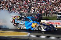 May 18, 2012; Topeka, KS, USA: NHRA funny car driver Jim Head during qualifying for the Summer Nationals at Heartland Park Topeka. Mandatory Credit: Mark J. Rebilas-