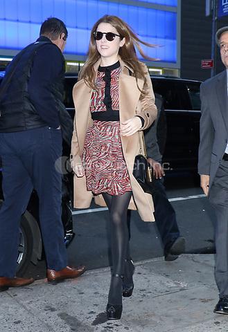 NEW YORK, NY- November 11: Anna Kendrick at Good Morning America promoting her Disney Christmas movie Noelle on November 11, 2019 in New York City. Credit: RW/MediaPunch