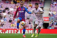 29th August 2021; Nou Camp, Barcelona, Spain; La Liga football league, FC Barcelona versus Getafe; Griezmann and Iglesias