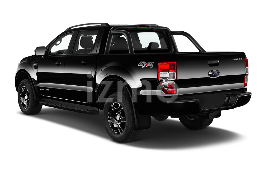 Car pictures of rear three quarter view of 2018 Ford Ranger Limited-Black-Edition 4 Door Pick-up Angular Rear
