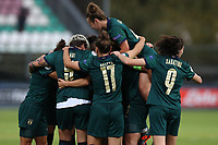 Valentina Cernoia of Italy celebrates with team mate after scoring a goal<br /> Castel di Sangro 12-11-2019 Stadio Teofolo Patini <br /> Football UEFA WomenÕs EURO 2021 <br /> Qualifying round - Group B <br /> Italy - Malta<br /> Photo Cesare Purini / Insidefoto