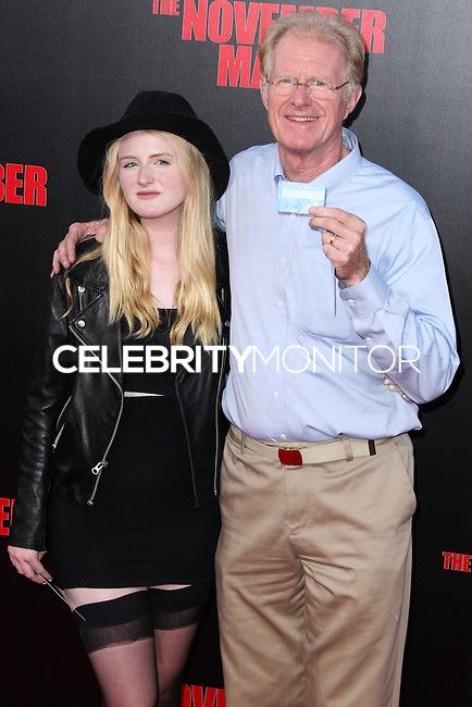 HOLLYWOOD, LOS ANGELES, CA, USA - AUGUST 13: Hayden Carson Begley, Ed Begley Jr. at the World Premiere Of Relativity Media's 'The November Man' held at the TCL Chinese Theatre on August 13, 2014 in Hollywood, Los Angeles, California, United States. (Photo by Xavier Collin/Celebrity Monitor)