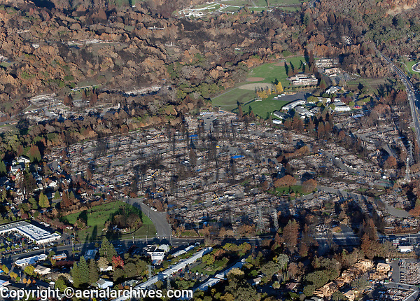 Tubbs Fire, Mark Springs Road West, Santa Rosa, Sonoma County, California, northern California wildfires, 2017.