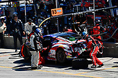 #93 Michael Shank Racing with Curb-Agajanian Acura NSX, GTD: Lawson Aschenbach, Justin Marks pit stop.
