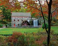 USA, Massachusetts, Longfellow Grist Mill located in Sudbury