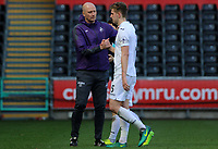 SWANSEA, WALES - MARCH 25: Swansea City coach Cameron Toshack shakes hands with Keston Davies of Swansea City after the final whistle of the Premier League International Cup Semi Final match between Swansea City and Porto at The Liberty Stadium on March 25, 2017 in Swansea, Wales. (Photo by Athena Pictures)Athena Pictures)