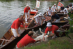 SWAN UPPING RIVER THAMES UK