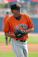 August 18, 2005:  Coach Larry McCall of the Bowie BaySox during a game at Metro Bank Park in Harrisburg, PA.  Bowie is the Eastern League Double-A affiliate of the Baltimore Orioles.  Photo by:  Mike Janes/Four Seam Images