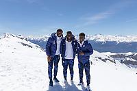 CRANS-MONTANA, SWITZERLAND - MAY 28: Mark McKenzie, Daryl Dike, Yunus Musah of the United States at Pointe de la Plaine Morte on May 28, 2021 in Crans-Montana, Switzerland.