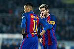 FC Barcelona's Neymar Santos Jr, Leo Messi during the match of La Liga, between Real Sociedad and Futbol Club Barcelona at Anoeta Stadium, San Sebastian , Spain. November 27, 2016. (ALTERPHOTOS/Rodrigo Jimenez)