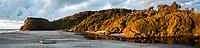 Coastal scene at Ship Creek during sunset,  UNESCO World Heritage Area, South Westland, West Coast, New Zealand, NZ