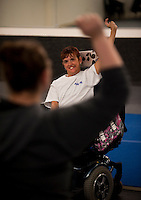 Kara works out during her weekly Zumba exercise class. Photo by James R. Evans©