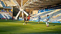 13th April 2021; The John Smiths Stadium, Huddersfield, Yorkshire, England; English Football League Championship Football, Huddersfield Town versus Bournemouth; Dominic Solanke of Bournemouth shoots at goal in the second half