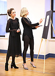 """Laura Osnes and Dana Costello during a Performance Sneak Peek of The MCP Production of """"The Scarlet Pimpernel"""" at Pearl Rehearsal studio Theatre on February 14, 2019 in New York City."""
