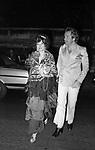 SORAYA ESFANDIARY BAKHTIARI  CON MASSIMO GARGIA<br /> FESTA PER I 30 ANNI DI HELMUT BERGER JACKIE O' ROMA 1974