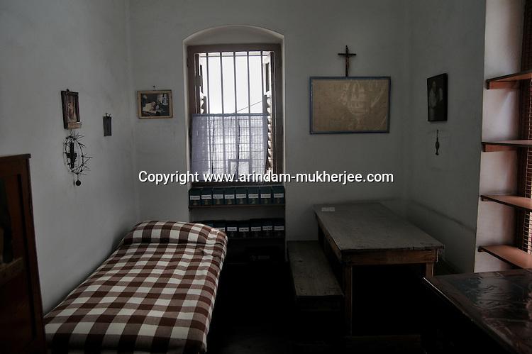 Mother Teresa's room at the Mother's House, Kolkata, West Bengal, India. 18th August 2010. Arindam Mukherjee