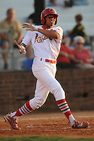 Johnson City Cardinals Reggie Williams at Howard Johnson Field in Johnson City, Tennessee July 6, 2010.   Johnson City won the game 6-5.  Photo By Tony Farlow/Four Seam Images