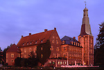 Europe, DEU, Germany, Raesfeld, Moated castle. Schloss Raesfeld in the evening light....[ For each utilisation of my images my General Terms and Conditions are mandatory. Usage only against use message and proof. Download of my General Terms and Conditions under http://www.image-box.com or ask for sending. A clearance before usage is necessary...Material is subject to royalties. Each utilisation of my images is subject to a fee in accordance to the present valid MFM-List...Contact | archive@image-box.com | www.image-box.com ]