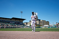 Rochester Red Wings Nick Gordon (1) during an International League game against the Scranton/Wilkes-Barre RailRiders on June 25, 2019 at Frontier Field in Rochester, New York.  Rochester defeated Scranton 10-9.  (Mike Janes/Four Seam Images)
