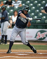 New Orleans Zephyrs Andy Tracy during the 2007 Pacific Coast League Season. Photo by Andrew Woolley/ Four Seam Images.