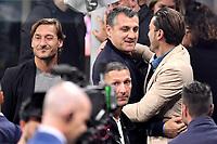 Francesco Totti, Christian Vieri, Nicola Vendola, Marco Materazzi <br /> Milano 6-10-2019 Stadio Giuseppe Meazza <br /> Football Serie A 2019/2020 <br /> FC Internazionale - Juventus FC <br /> Photo Andrea Staccioli / Insidefoto