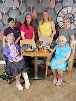 Top row L-R Sue Johnson, Tracy Hiscock, Liz Stickler from Tesco and Debby Roose, care home manager. Front row L-R Sylvia Williams and Constance Skinner