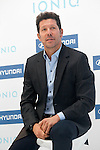 Atletico de Madrid's coach coach Diego Pablo Cholo Simeone during the presentation of the new Hyundai Ionic. October 10, 2016. (ALTERPHOTOS/Acero)