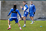 St Johnstone Training…. 09.12.20<br />Jason Kerr pictured during training with Stevie May and David Wotherspoon ahead of Saturdays home game against Livingston.<br />Picture by Graeme Hart.<br />Copyright Perthshire Picture Agency<br />Tel: 01738 623350  Mobile: 07990 594431