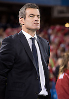 March 9, 2013: Head coach Ryan Nelsen during the national anthems in a game between Toronto FC and Sporting Kansas City at the Rogers Centre in Toronto, Ontario Canada..Toronto FC won 2-1.