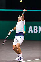 Rotterdam, The Netherlands, 4 march  2021, ABNAMRO World Tennis Tournament, Ahoy, Second round singles: Second round singles: Dusan Lajovic (SRB).<br /> Photo: www.tennisimages.com/