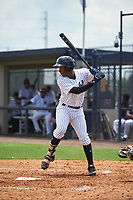 GCL Yankees West left fielder Terrance Robertson (11) at bat during the second game of a doubleheader against the GCL Yankees East on July 19, 2017 at the Yankees Minor League Complex in Tampa, Florida.  GCL Yankees West defeated the GCL Yankees East 3-1.  (Mike Janes/Four Seam Images)