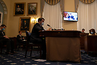 United States Secretary of Veterans Affairs (VA) Robert Wilkie, speaks at a hearing with the US House Appropriations Subcommittee on Military Construction, Veterans Affairs, and Related Agencies on Capitol Hill in Washington DC, on May 28th, 2020.<br /> Credit: Anna Moneymaker / Pool via CNP/AdMedia