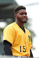 FCL Pirates Gold Rodolfo Nolasco (15) during a game against the FCL Rays on July 26, 2021 at LECOM Park in Bradenton, Florida. (Mike Janes/Four Seam Images)