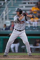 Lake Elsinore Storm first baseman Brad Zunica (40) at bat during a California League game against the Modesto Nuts at John Thurman Field on May 11, 2018 in Modesto, California. Modesto defeated Lake Elsinore 3-1. (Zachary Lucy/Four Seam Images)
