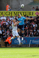 Pictured: Garry Monk of Swansea City in action. Saturday 17 September 2011<br /> Re: Premiership football Swansea City FC v West Bromwich Albion at the Liberty Stadium, south Wales.