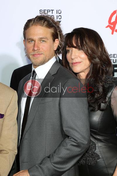 "Charlie Hunnam, Katey Sagal<br /> at the ""Sons of Anarchy"" Season Six Premiere Screening, Dolby Theatre, Hollywood, CA 09-07-13<br /> David Edwards/Dailyceleb.com 818-249-4998"