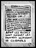 Europe/Ile de France / 75011/Paris : Affiche   atisanale pour une santé populaire // Europe / Ile de France / 75011 / Paris: Traditional poster for popular health