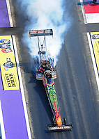Apr. 28, 2012; Baytown, TX, USA: Aerial view of NHRA top fuel dragster driver Terry McMillen during qualifying for the Spring Nationals at Royal Purple Raceway. Mandatory Credit: Mark J. Rebilas-