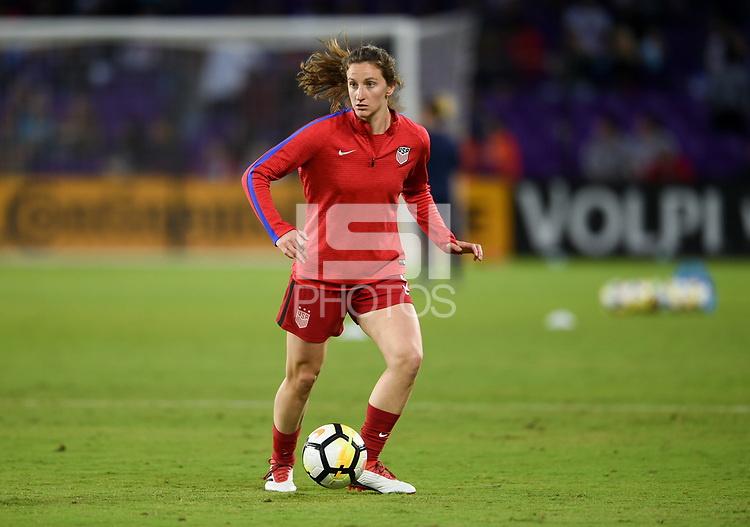Orlando City, FL - Wednesday March 07, 2018:  during a 2018 SheBelieves Cup match between the women's national teams of the United States (USA) and England (ENG) at Orlando City Stadium.