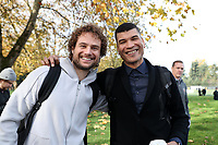TUKWILA, WA - NOVEMBER 08: Stephen Keel of MLS and Amir Lowery of the MLSPA pose for a photo at Starfire Sports Complex on November 08, 2019 in Tukwila, Washington.