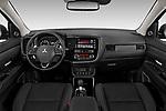 Stock photo of straight dashboard view of 2019 Mitsubishi Outlander GT 5 Door SUV Dashboard