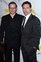 """WEST HOLLYWOOD, CA - NOVEMBER 13: Matt Damon, Jason Patric at the """"Stand Up For Gus"""" Benefit held at Bootsy Bellows on November 13, 2013 in West Hollywood, California. (Photo by Xavier Collin/Celebrity Monitor)"""