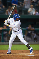 South Bend Cubs right fielder Eddy Martinez (15) at bat during a game against the Burlington Bees on July 22, 2016 at Four Winds Field in South Bend, Indiana.  South Bend defeated Burlington 4-3.  (Mike Janes/Four Seam Images)