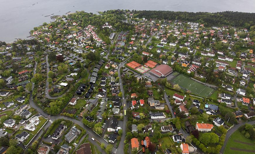 Oslo fra lufta, 20150519. Bygdøy. Foto: Eirik Helland Urke