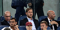Calcio, Serie A: Roma, stadio Olimpico, 16 settembre 2017.<br /> AS Roma's former captain Francesco Totti waits for the start of the Italian Serie A football match between AS Roma and Hellas Verona at Rome's Olympic stadium, September 16, 2017.<br /> UPDATE IMAGES PRESS/Isabella Bonotto