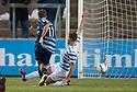 Forfar's Danny Denholm scores their goal.