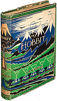 BNPS.co.uk (01202) 558833. <br /> Pic: HeritageAuctions/BNPS<br /> <br /> Pictured: The cover of the first edition. <br /> <br /> A rare first edition of JRR Tolkien's The Hobbit which has numerous spelling mistakes has sold for £46,000 ($60,000) after sparking a bidding war.<br /> <br /> Some 1,500 copies of the middle earth fantasy novel were published in September 1937, selling out by the end of the year.<br /> <br /> The book contains 16 misprints which were corrected in later editions by the publishers George Allen & Unwin Ltd.<br /> <br /> This example, which is in its colourful original dust jacket, was sold with Heritage Auctions, of Dallas, Texas.<br /> <br /> It had been expected to sell for £15,000 but fetched three times its estimate.