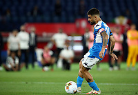 Napoli's Lorenzo Insigne kicks the ball during the penalty shootout of the Italian Cup football final match between Napoli and Juventus at Rome's Olympic stadium, June 17, 2020. Napoli won 4-2 at the end of a penalty shootout following a scoreless draw.<br /> UPDATE IMAGES PRESS/Isabella Bonotto